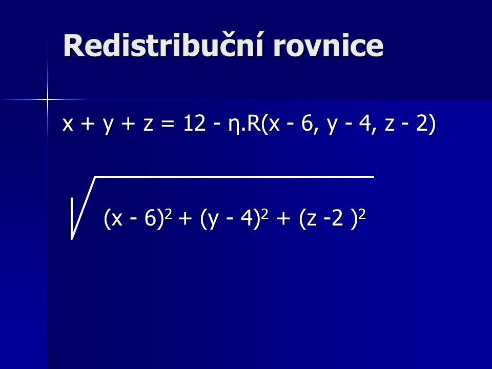 Redistribuční rovnice