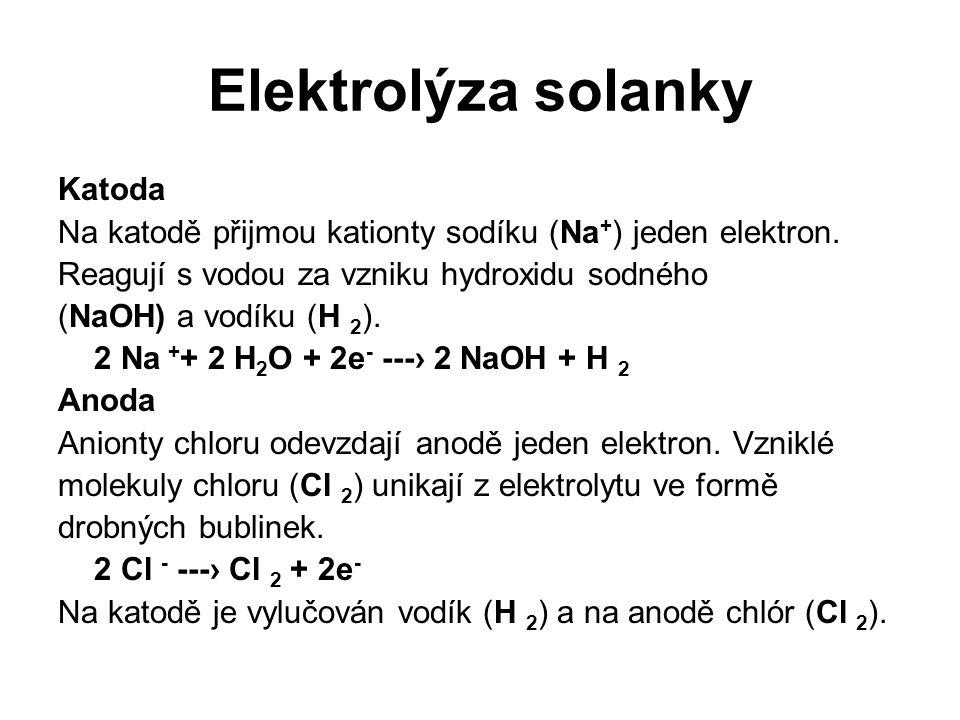 Elektrolýza solanky Katoda