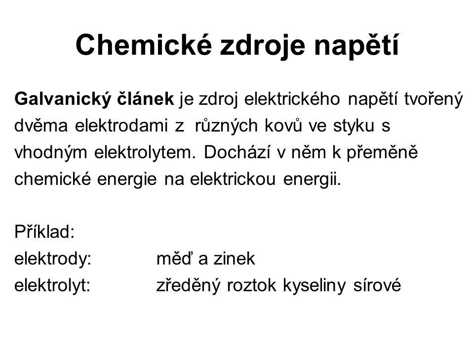 Chemické zdroje napětí