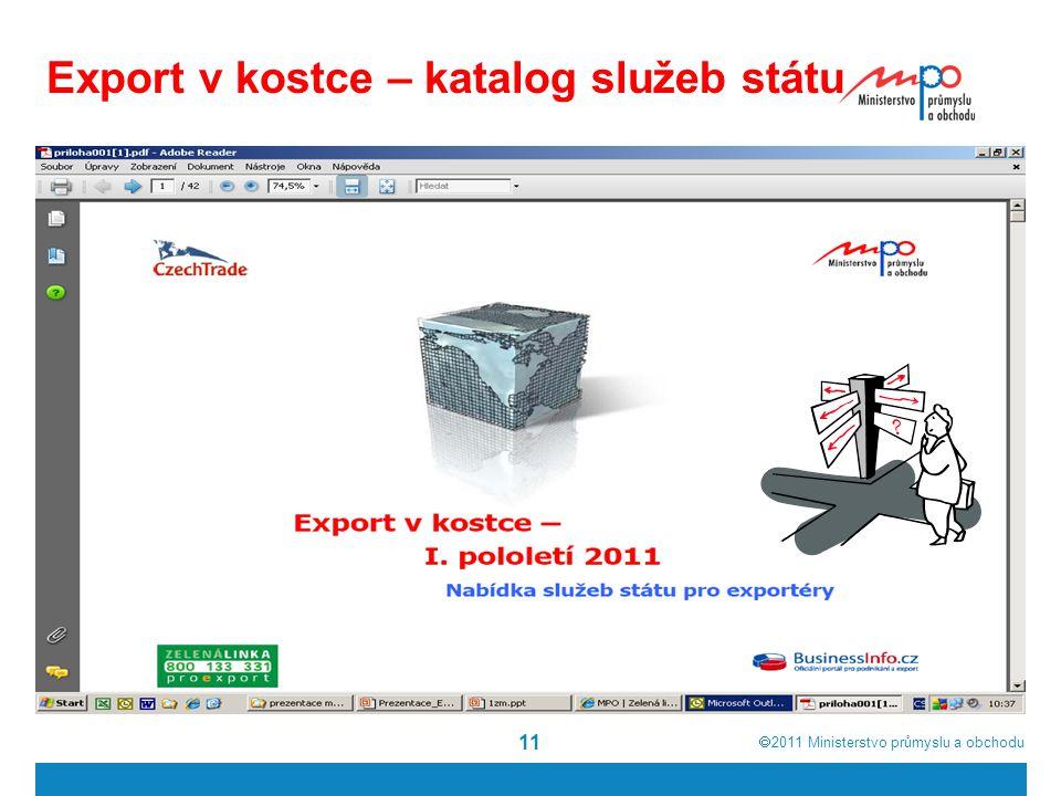 Export v kostce – katalog služeb státu