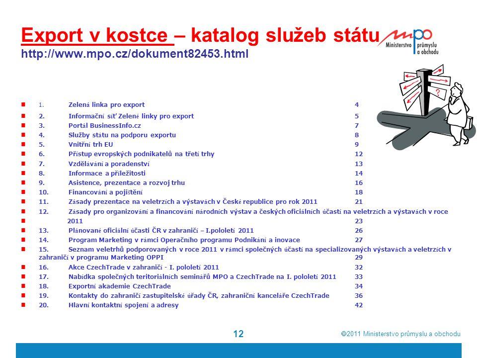 Export v kostce – katalog služeb státu http://www. mpo