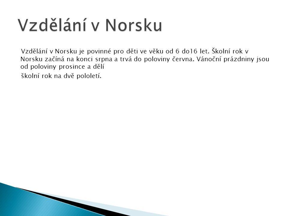 Vzdělání v Norsku