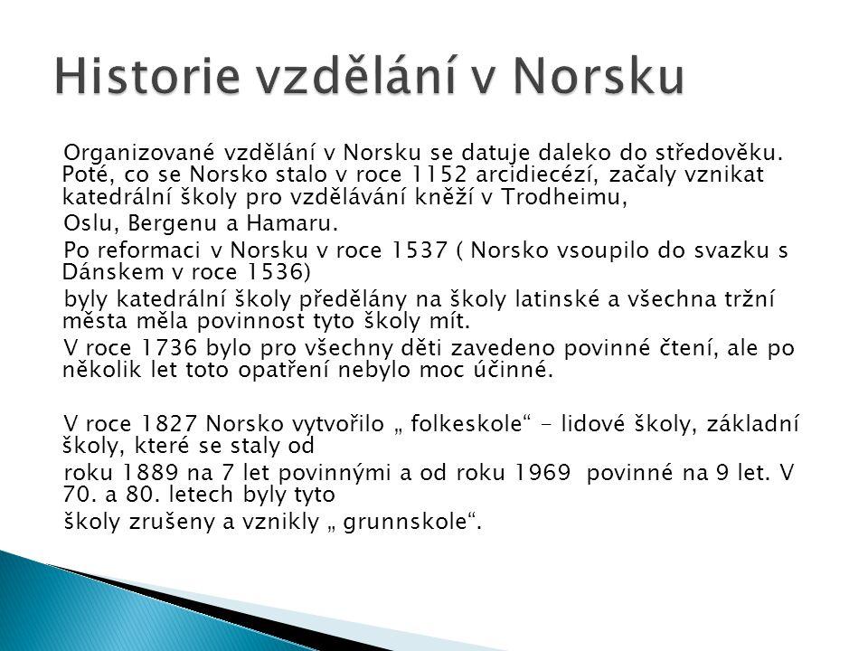Historie vzdělání v Norsku