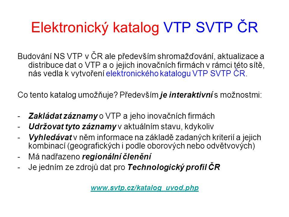 Elektronický katalog VTP SVTP ČR