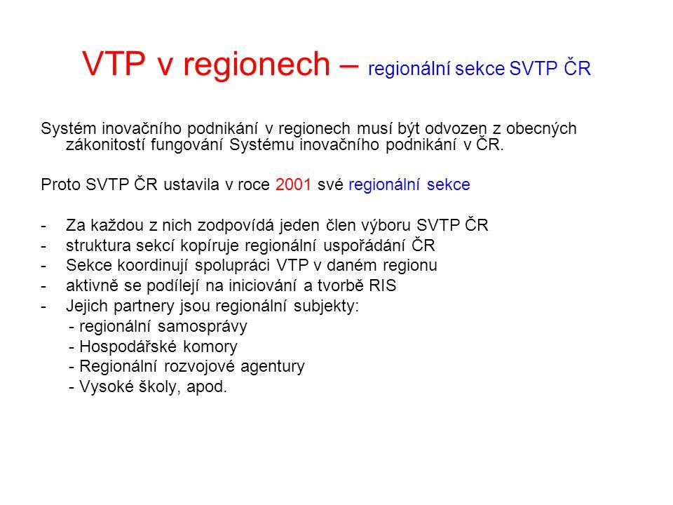 VTP v regionech – regionální sekce SVTP ČR