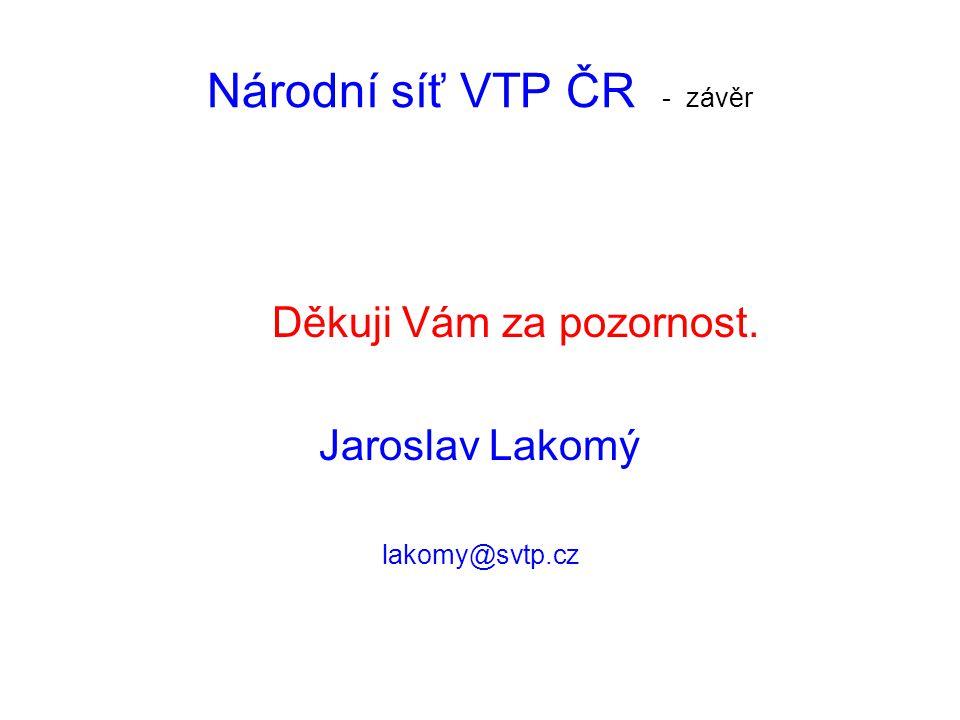 Národní síť VTP ČR - závěr