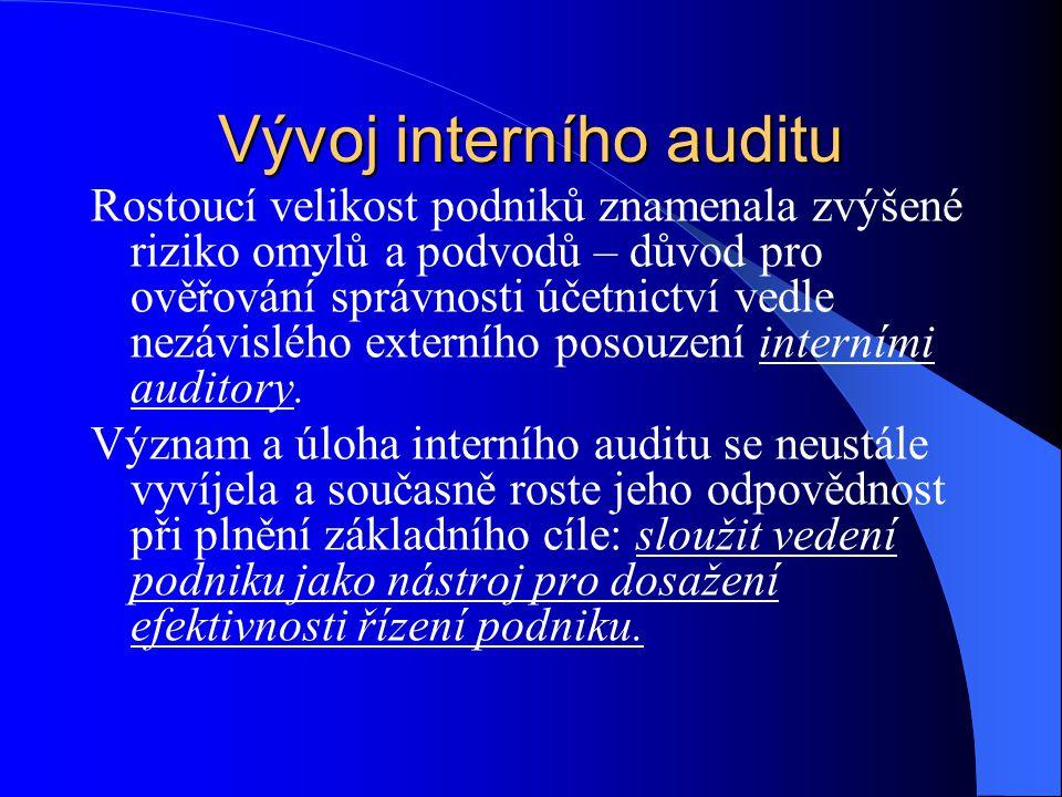 Vývoj interního auditu