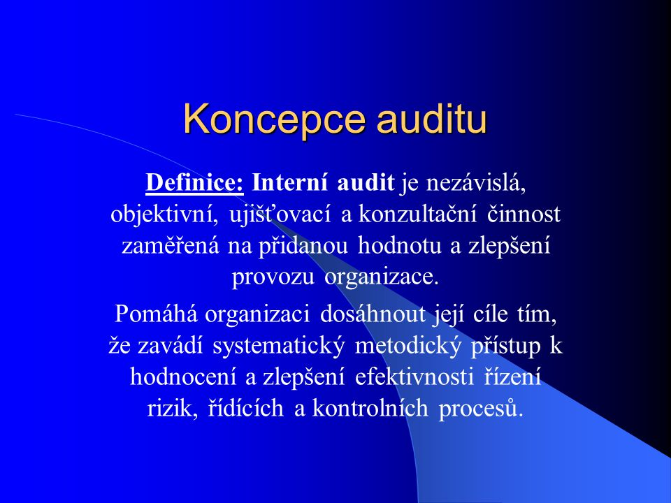 Koncepce auditu