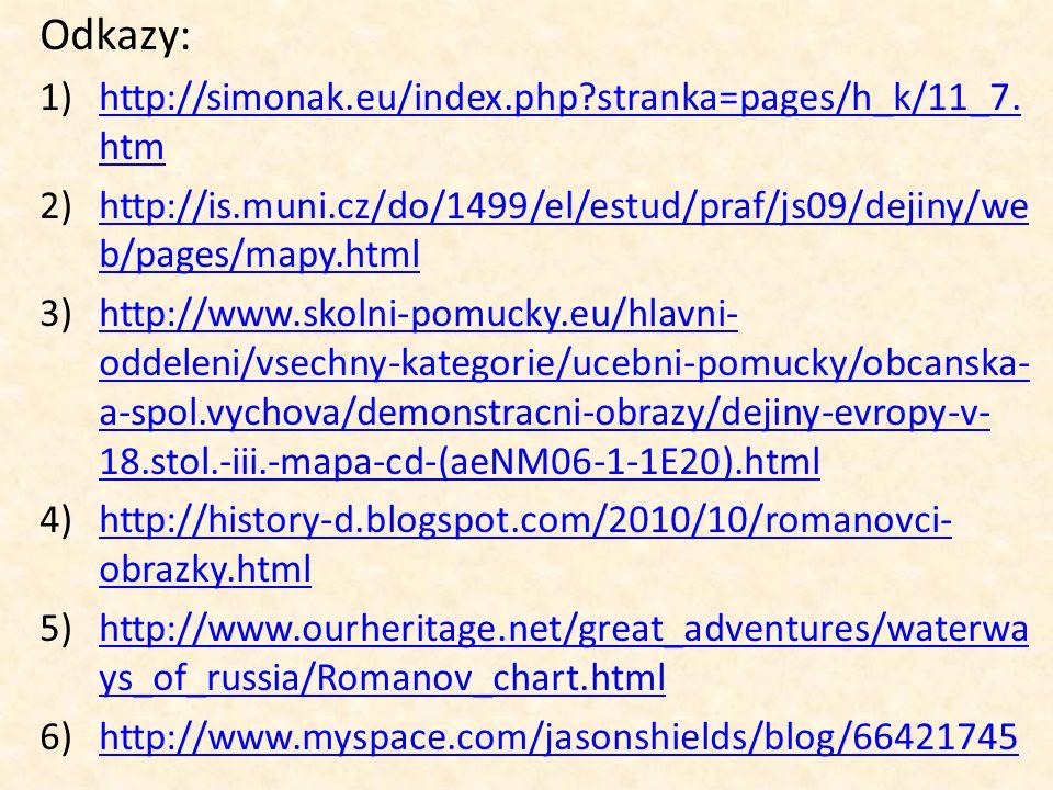 Odkazy: http://simonak.eu/index.php stranka=pages/h_k/11_7.htm