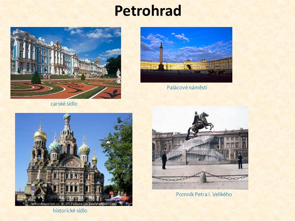 Petrohrad Palácové náměstí carské sídlo Pomník Petra I. Velikého