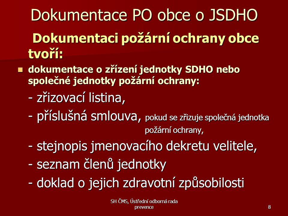 Dokumentace PO obce o JSDHO