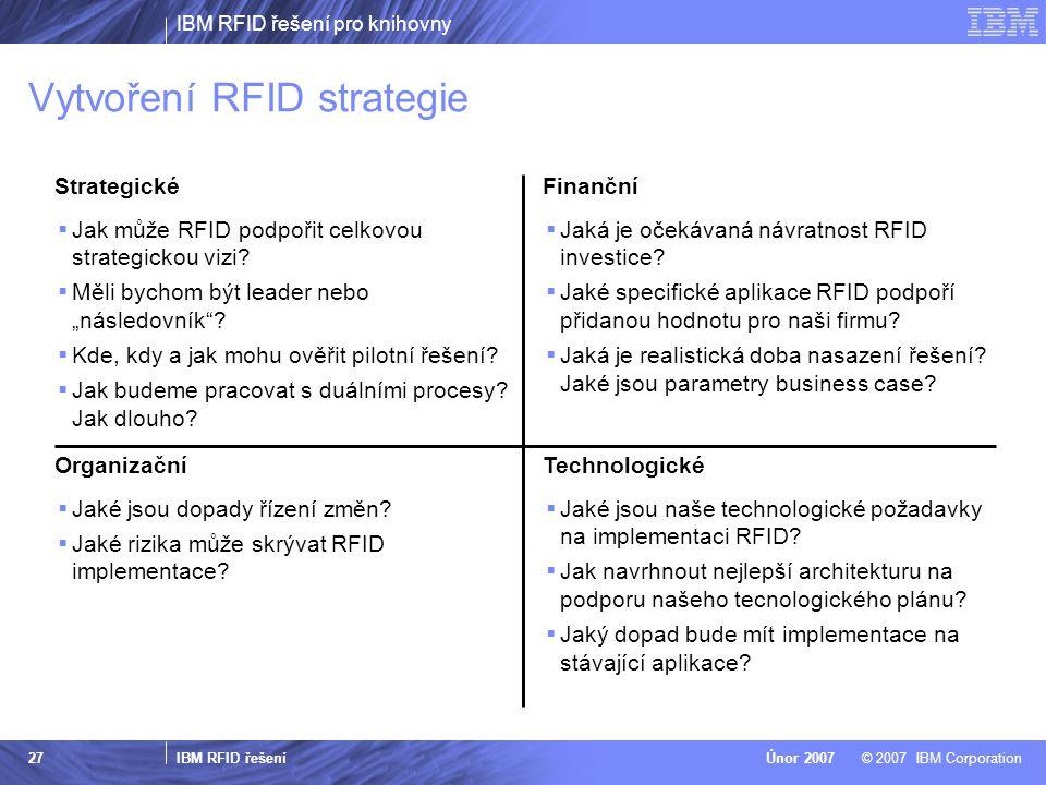 Vytvoření RFID strategie