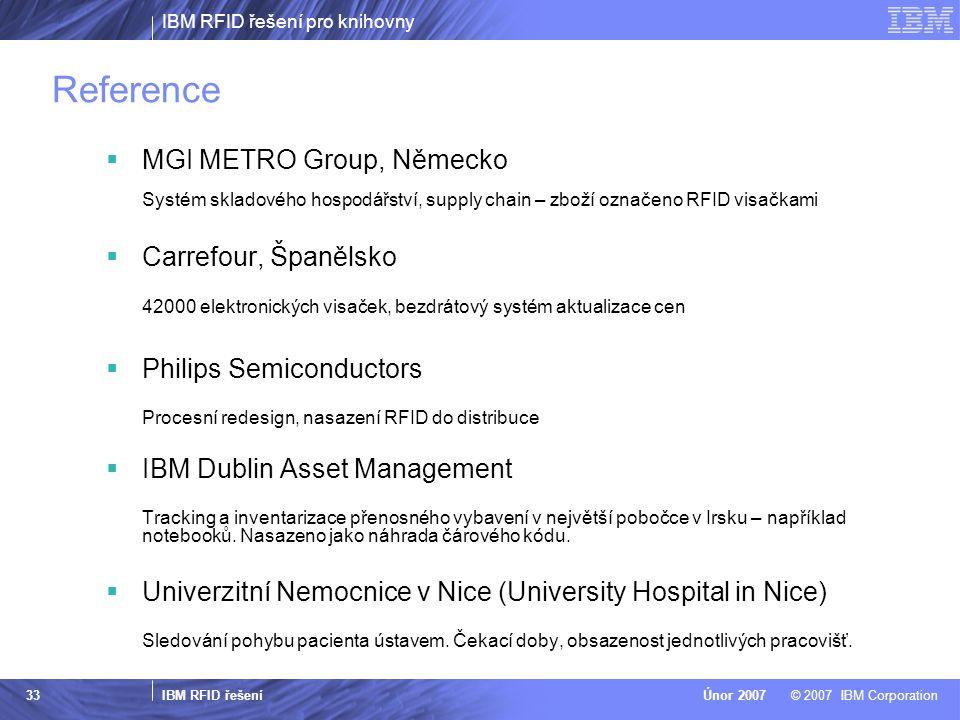 Reference MGI METRO Group, Německo Carrefour, Španělsko