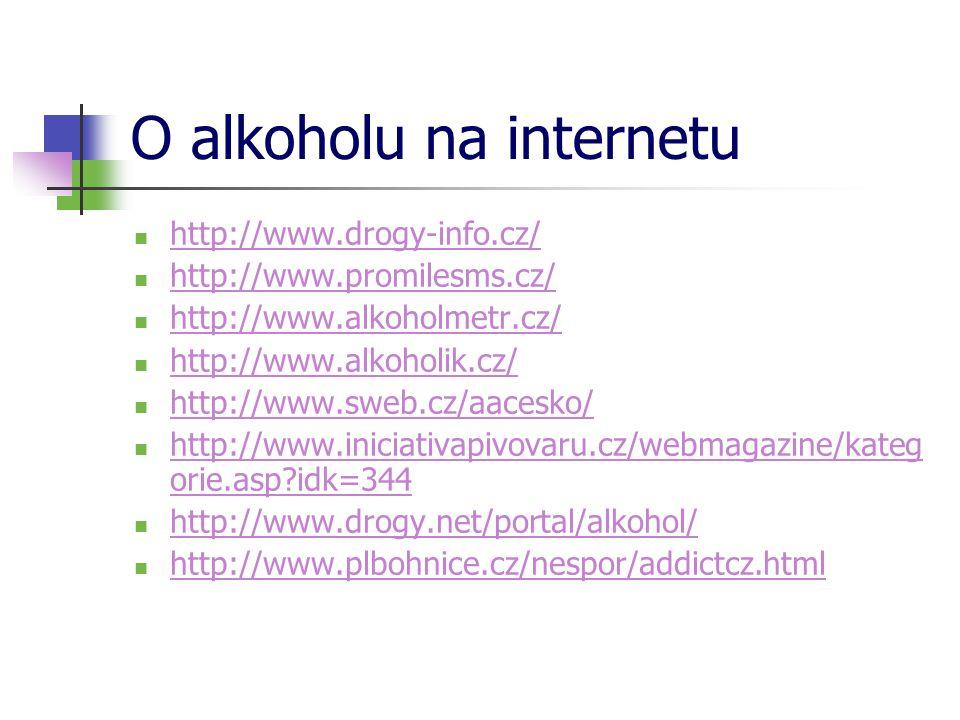 O alkoholu na internetu