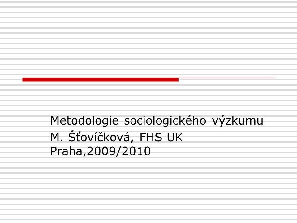 Metodologie sociologického výzkumu