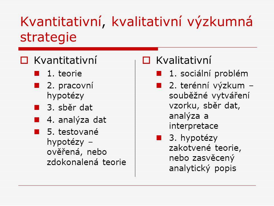 Kvantitativní, kvalitativní výzkumná strategie