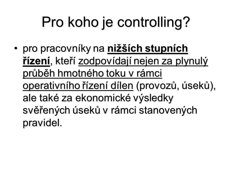 Pro koho je controlling