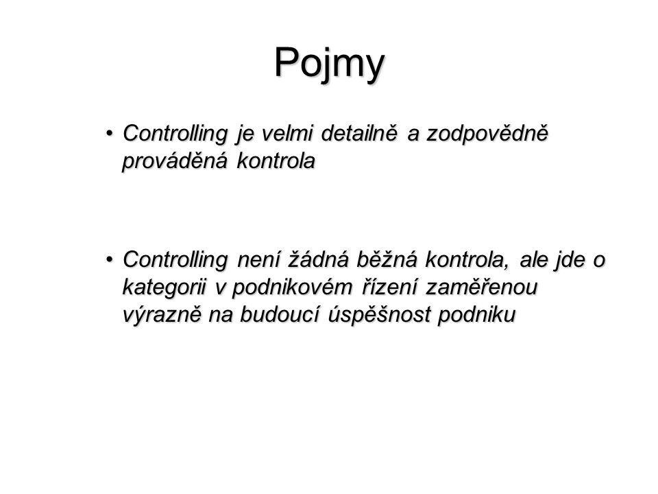 Pojmy Controlling je velmi detailně a zodpovědně prováděná kontrola