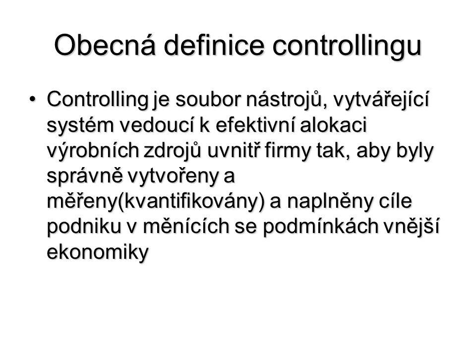 Obecná definice controllingu