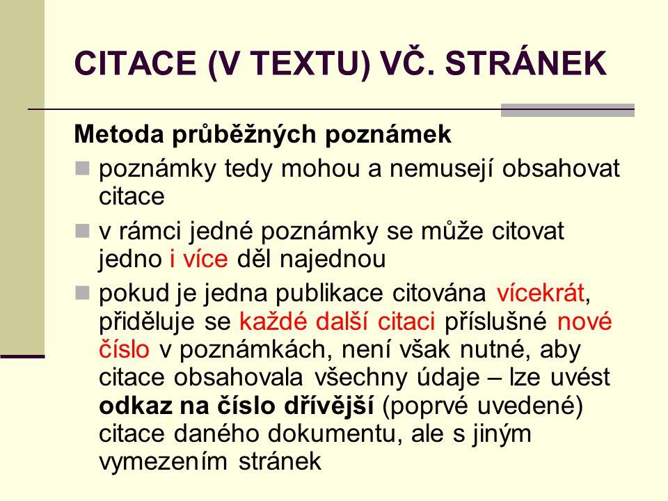 CITACE (V TEXTU) VČ. STRÁNEK