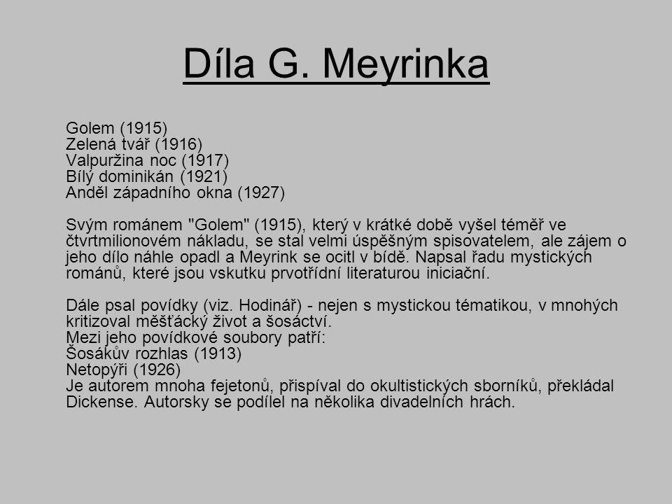 Díla G. Meyrinka