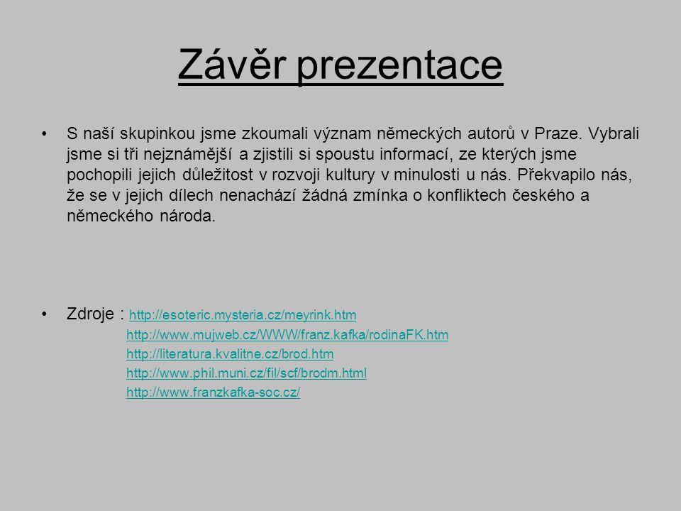Závěr prezentace