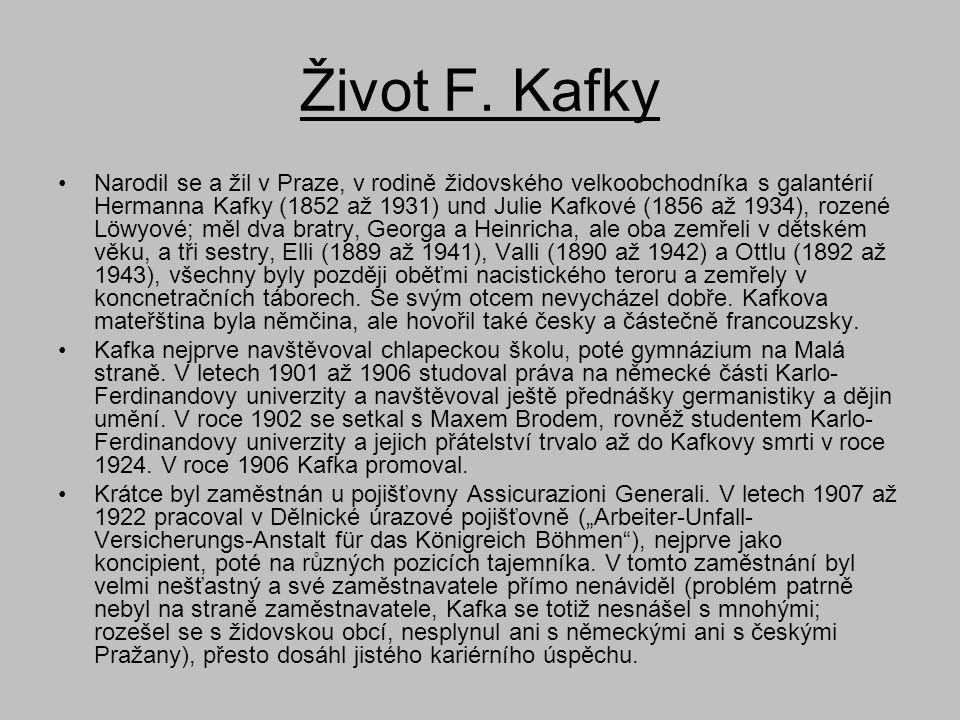 Život F. Kafky