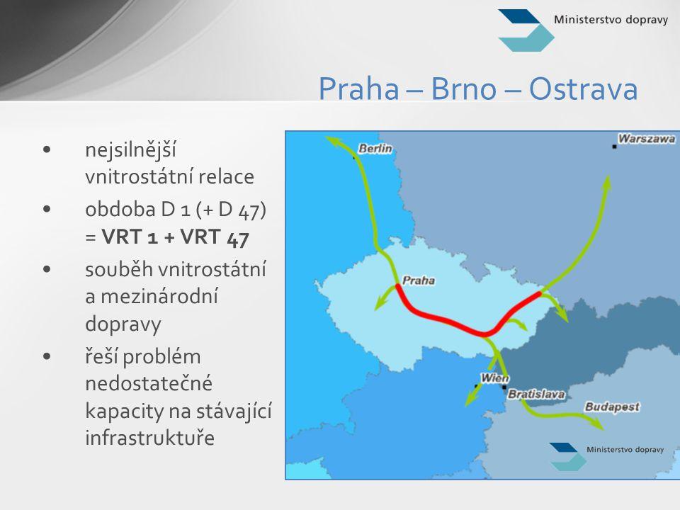 Praha – Brno – Ostrava nejsilnější vnitrostátní relace