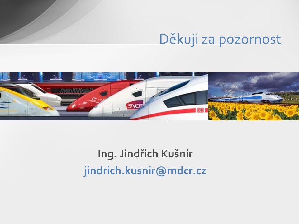 Děkuji za pozornost Ing. Jindřich Kušnír jindrich.kusnir@mdcr.cz