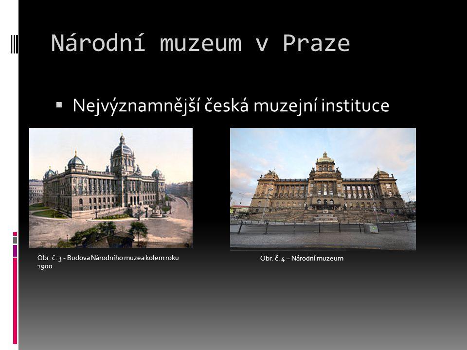 Národní muzeum v Praze Nejvýznamnější česká muzejní instituce