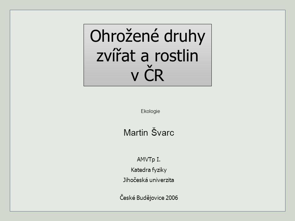 Ohrožené druhy zvířat a rostlin v ČR