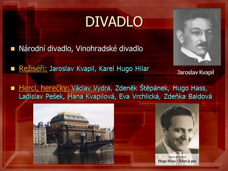 DIVADLO Národní divadlo, Vinohradské divadlo