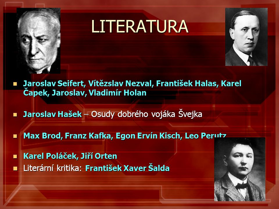 LITERATURA Literární kritika: František Xaver Šalda