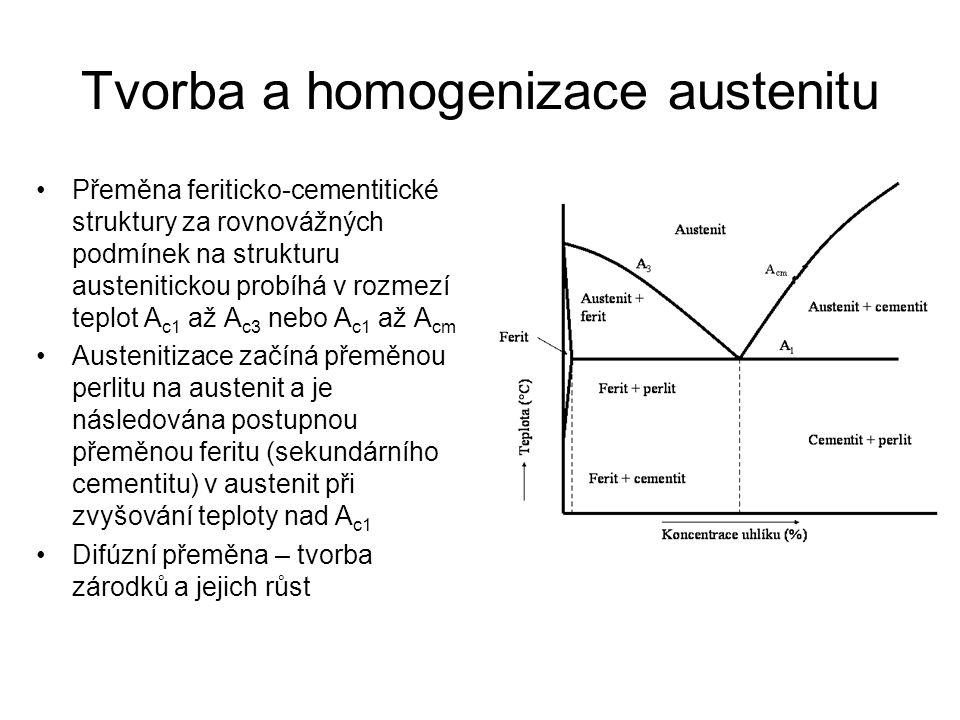 Tvorba a homogenizace austenitu