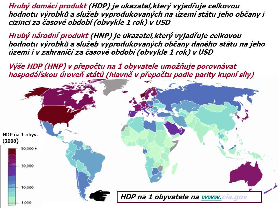 HDP na 1 obyvatele na www.cia.gov