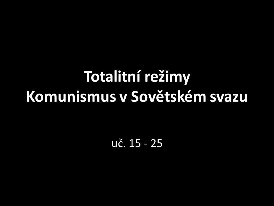 Totalitní režimy Komunismus v Sovětském svazu