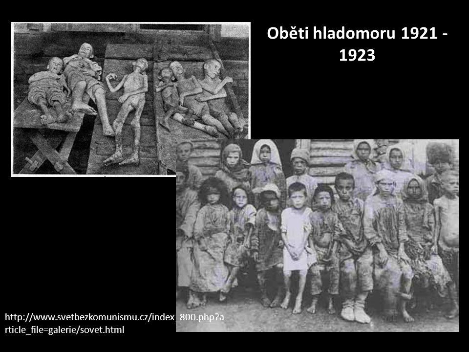 Oběti hladomoru 1921 - 1923 http://www.svetbezkomunismu.cz/index_800.php article_file=galerie/sovet.html.