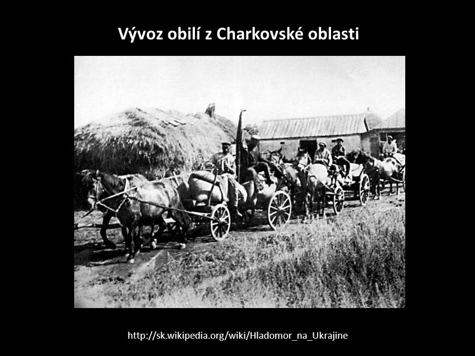 Vývoz obilí z Charkovské oblasti
