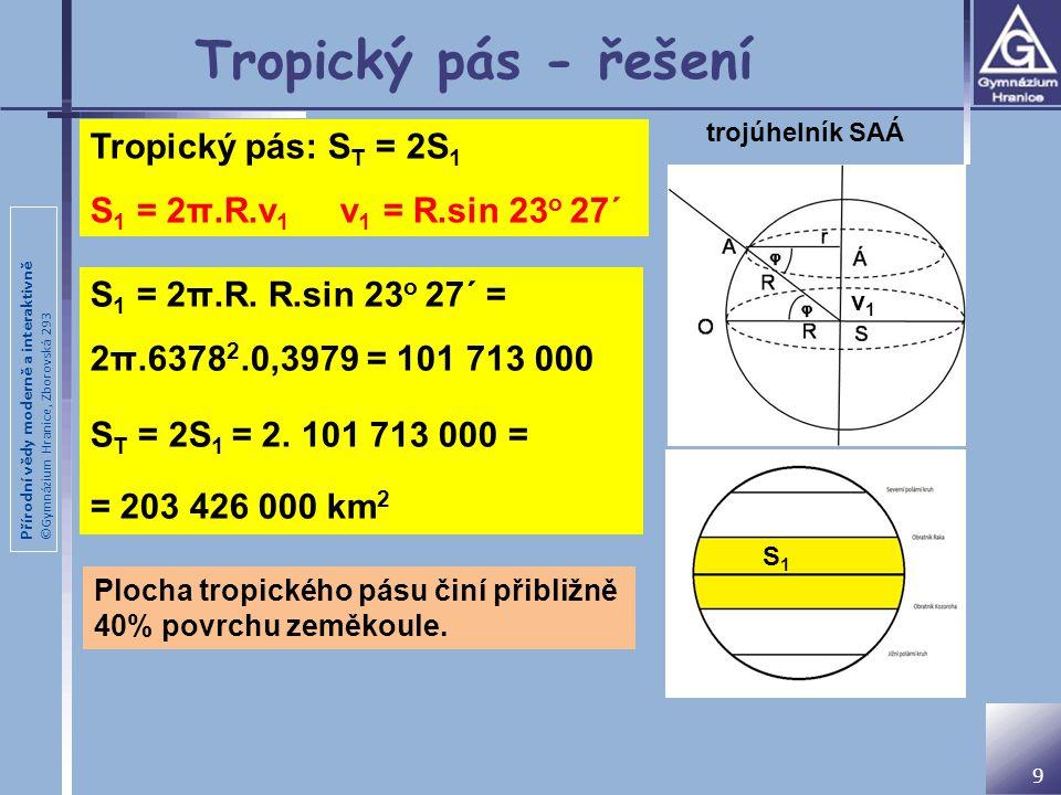 Tropický pás - řešení Tropický pás: ST = 2S1