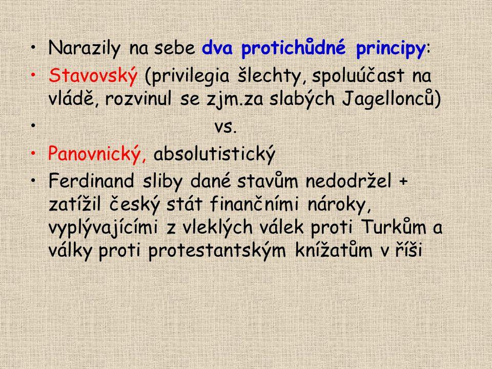 Narazily na sebe dva protichůdné principy: