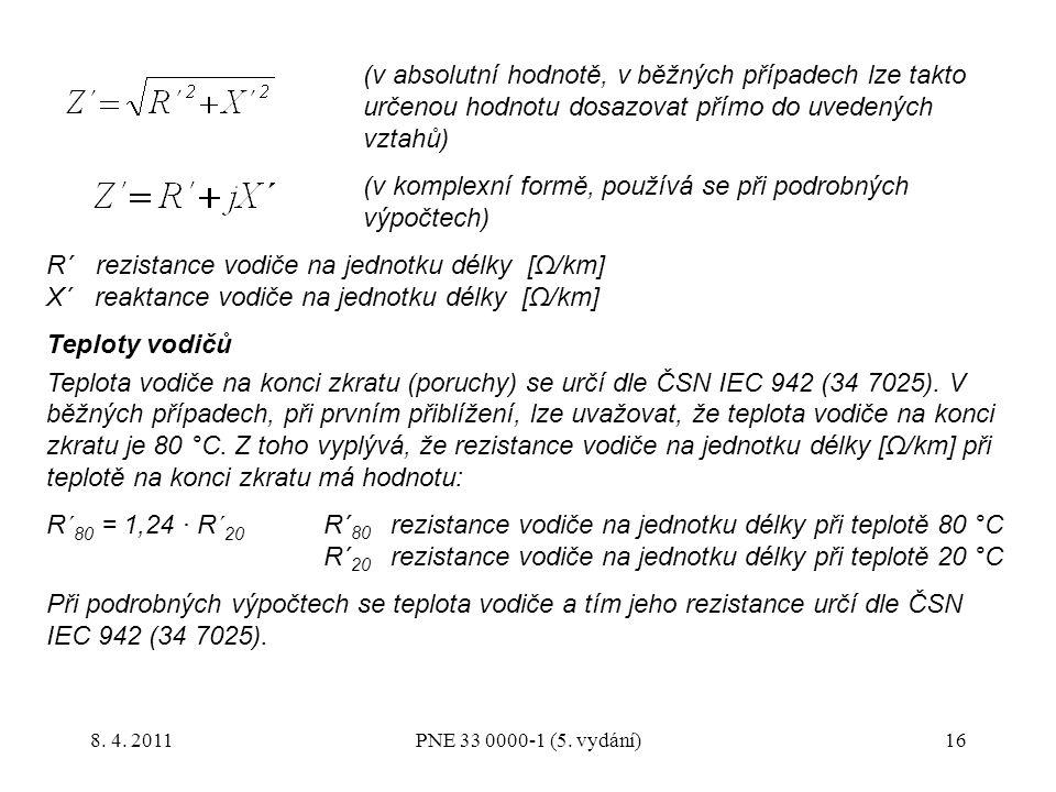 (v komplexní formě, používá se při podrobných výpočtech)