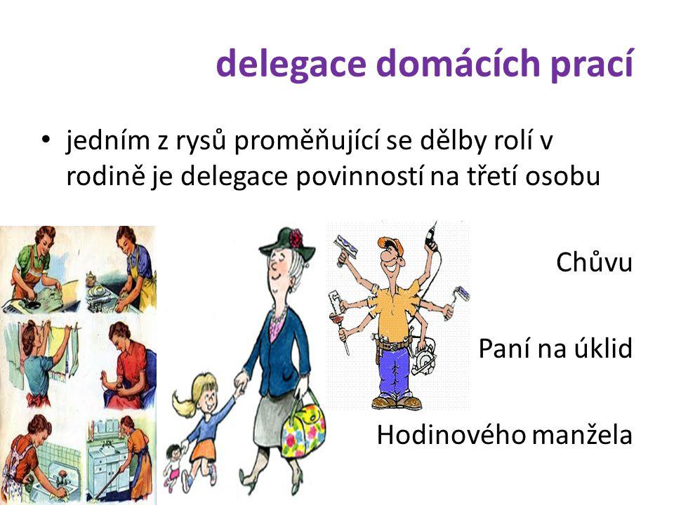delegace domácích prací