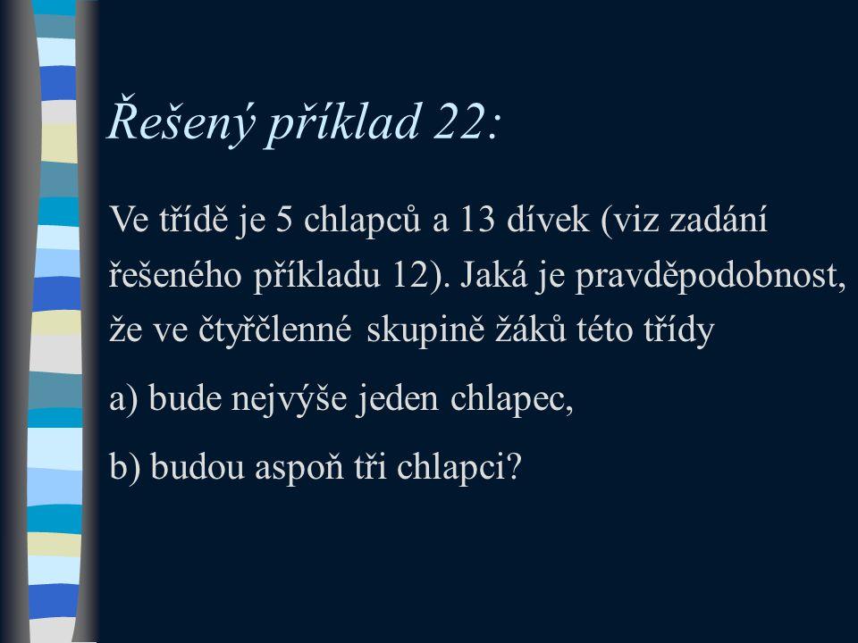 Řešený příklad 22:
