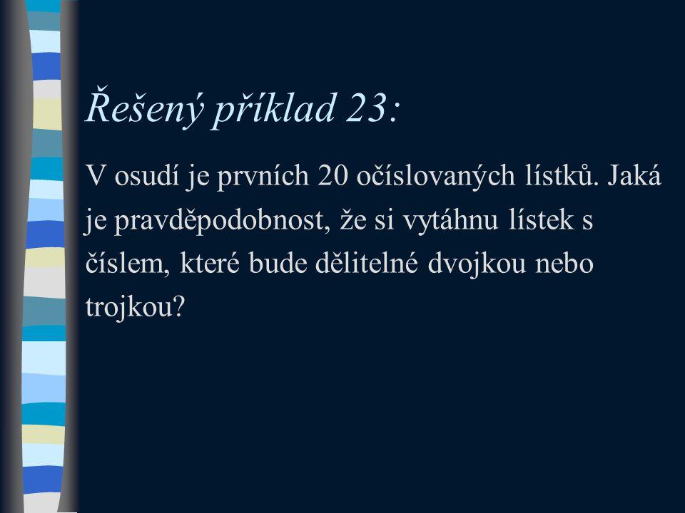 Řešený příklad 23: