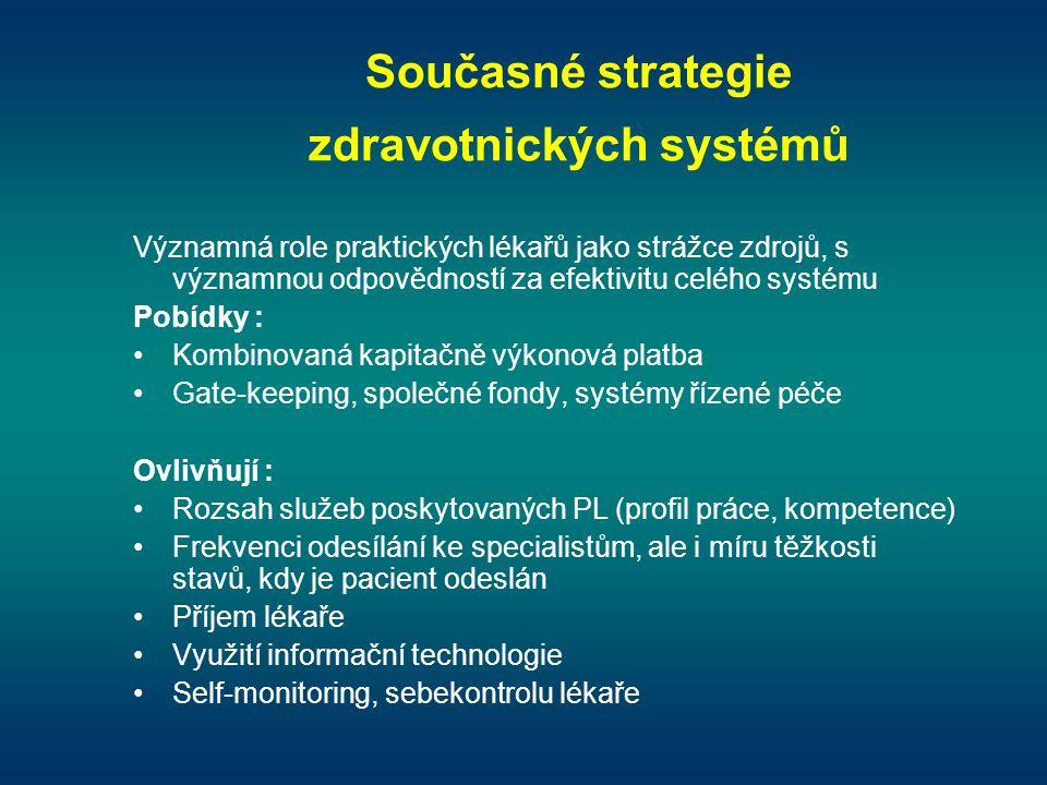 Současné strategie zdravotnických systémů