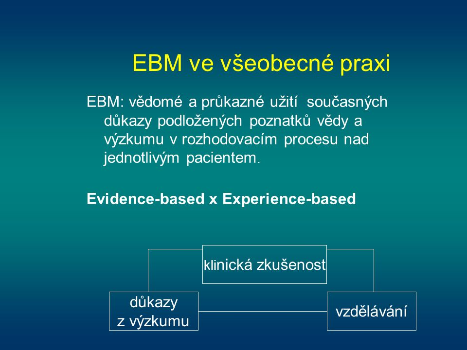 EBM ve všeobecné praxi