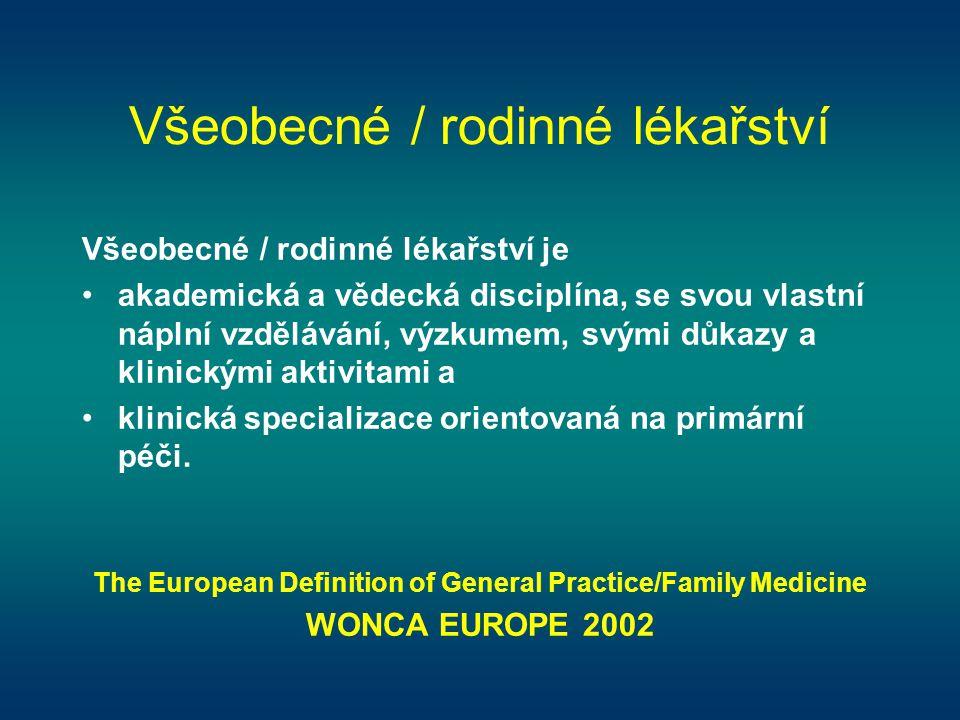 Všeobecné / rodinné lékařství