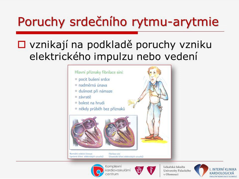 Poruchy srdečního rytmu-arytmie