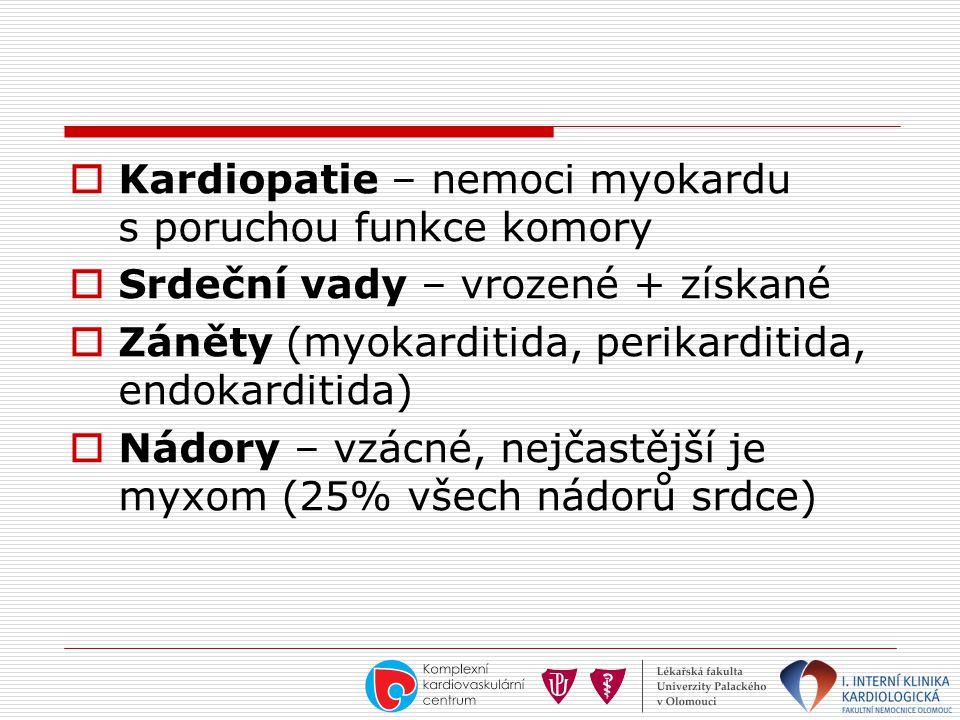 Kardiopatie – nemoci myokardu s poruchou funkce komory