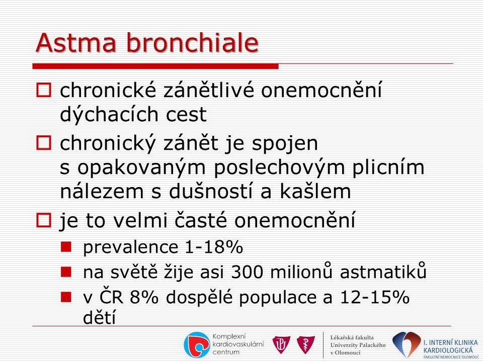 Astma bronchiale chronické zánětlivé onemocnění dýchacích cest